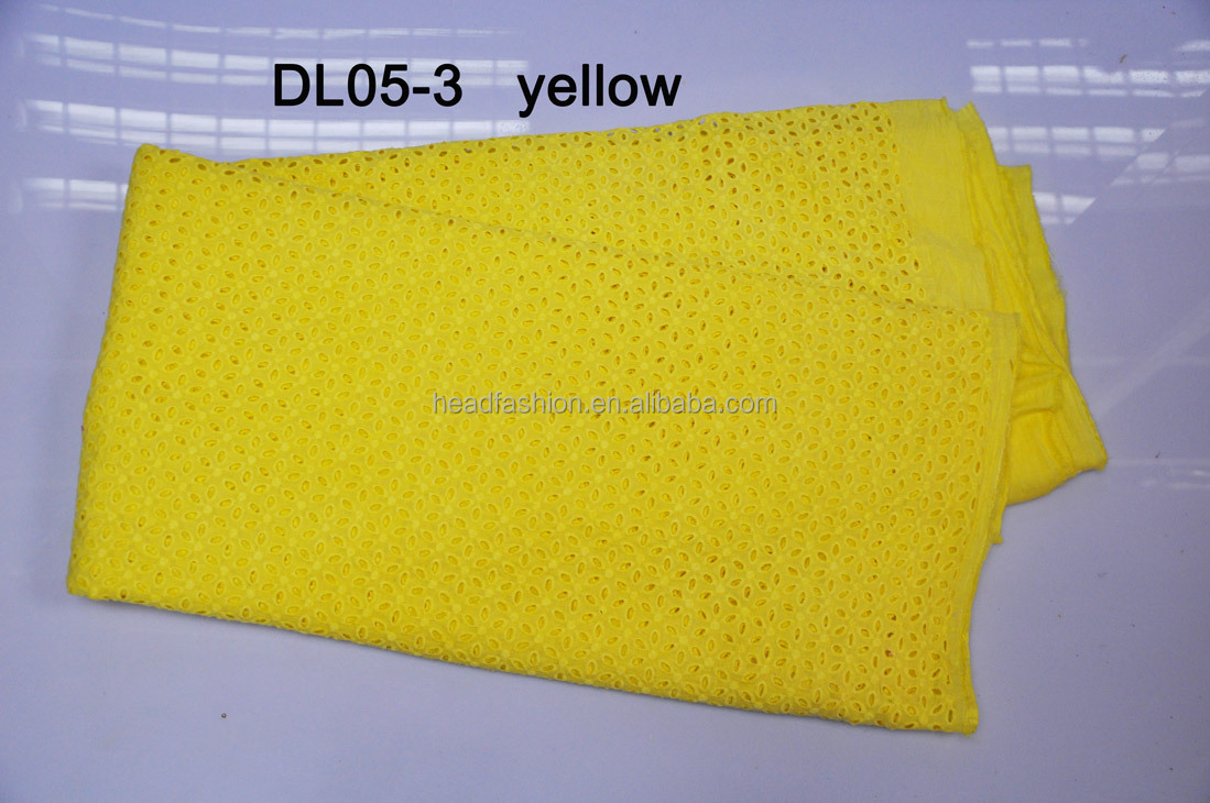 fashion dry lace material DL05-3--YELLOW