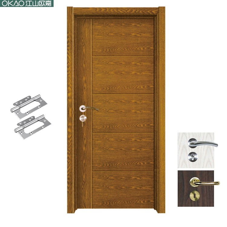 Modern solid high quality pvc wood door