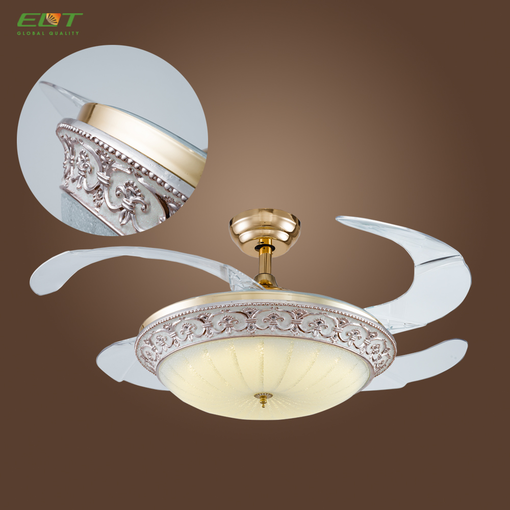 42 Inch Bladeless Branded Ceiling Fan with LED Light