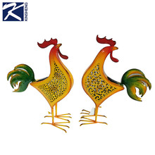 Custom pequeño decorativo metal <span class=keywords><strong>hierro</strong></span> pollo estatuilla