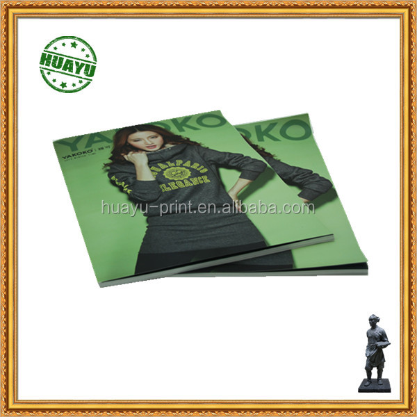 Warm clothes in warm winter for magazine printing with full color best choice