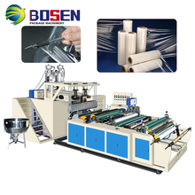 Automatic PE LLDPE PRE One Two Three Layers Stretch Film Wrapping Making Rewinding Machine