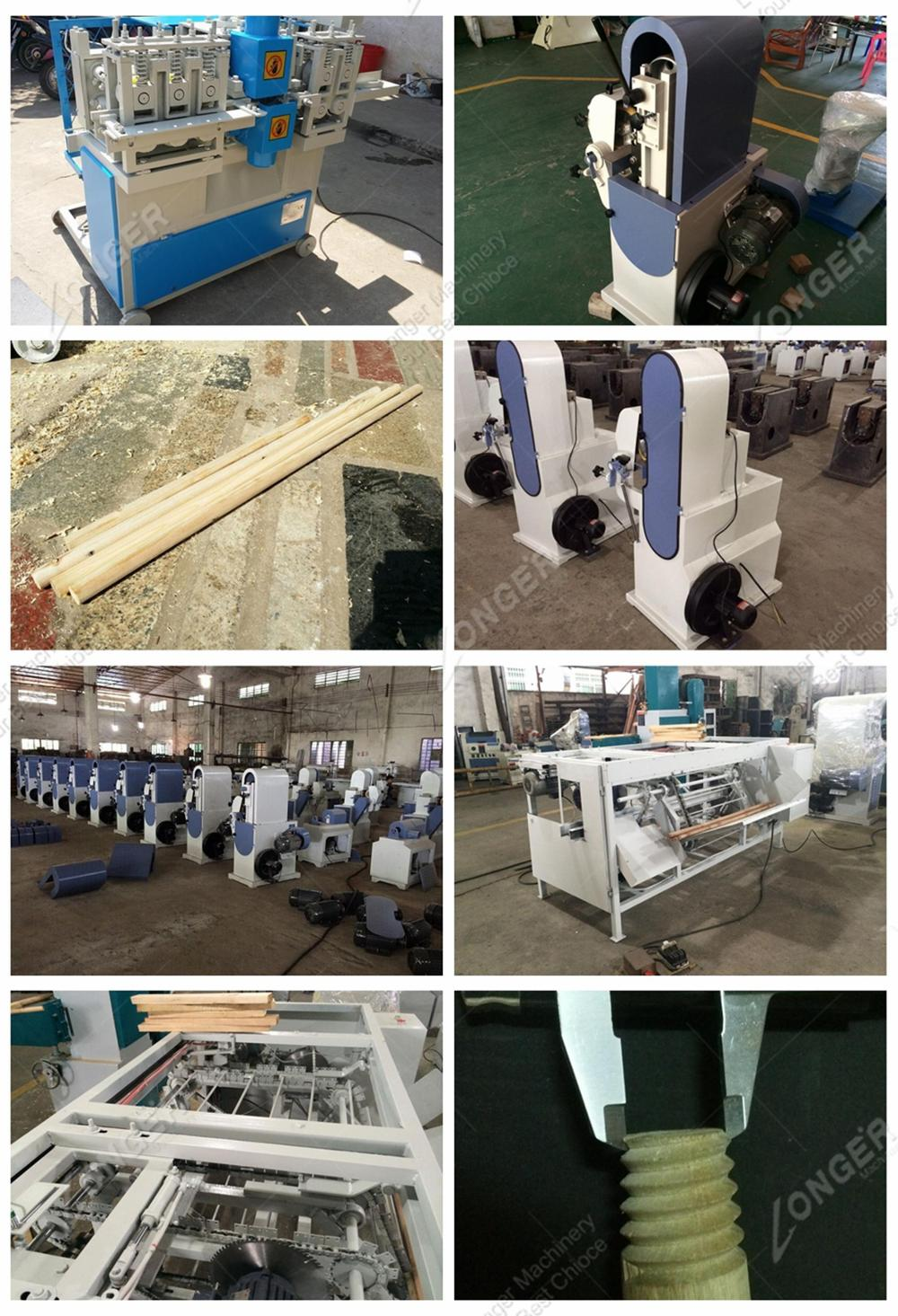 Automatic Mop Rod Rounding Machinery Wood Round Bar Processing Hammer Broom Shovel Handles Maker Wooden Stick Making Machine