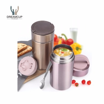 Food grade double wall stainless steel vacuum insulated thermos food flask