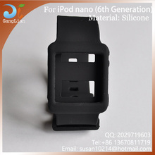 Best Seller For iPod Nano 6 Silicon Watchband , Soft silicone