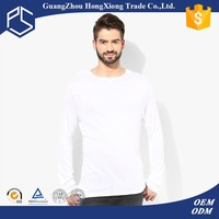 Play some 100%cotton blank White cheap athletic mens long sleeve t shirt