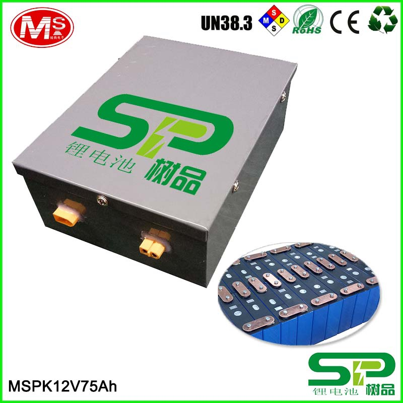 12V 75Ah LiFePO4 Battery UPS ESS Solar Wind Backup Power Battery Street Light Replacing Lead-acid Battery