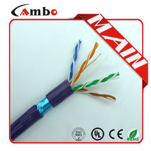 Factory price 350MHZ 4 Pair 23awg solid Copper CAT6 Cable sftp download