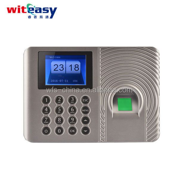 Employee Biometric Spanish Time Attendance Reader No Need Software pin code and fingerprint communication