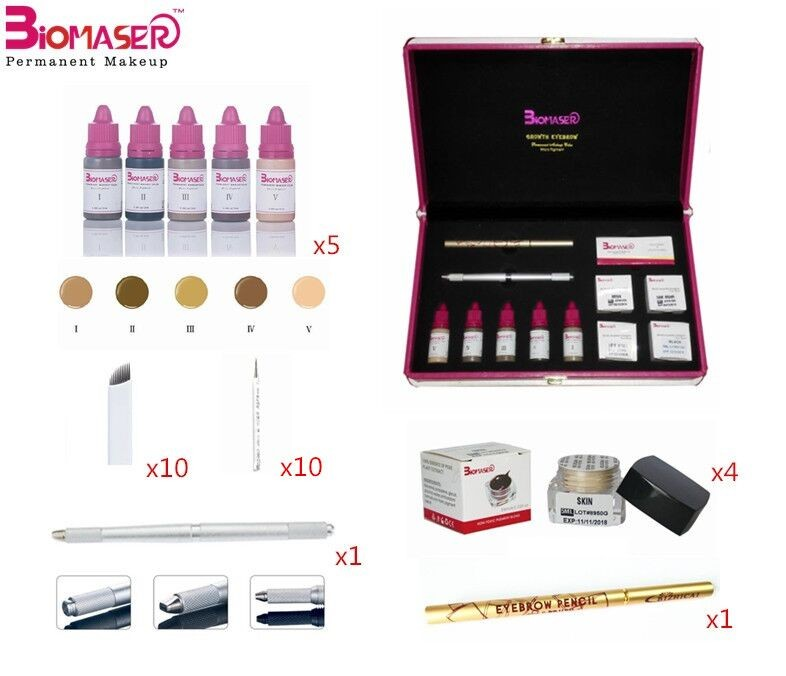 8 Colors Eyebrow Pigment Microblading Tools Kit