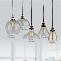 Bell Glass Pendant LED Lights/Chandelier Cement Art Lamps Wall Lanterns For Restaurant