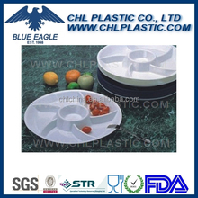 Factory wholesale round plastic department serve tray