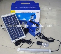 6-40W Portable Small Lighting Solar Kits parabolic solar concentrator