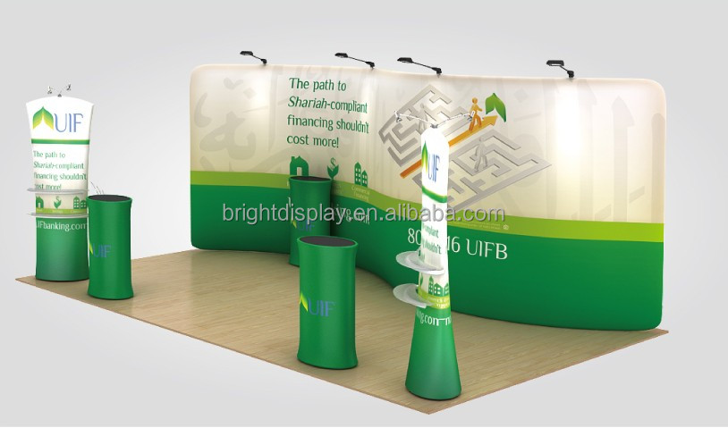 Modern Aluminum Standard Trade <strong>Show</strong> 8ft advertising exhibition booth,8ft tension fabric display stand