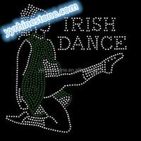 Irish dance rhinestone heat transfer iron on applique