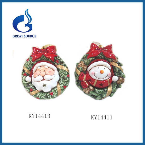 Santa Claus printed wholesale artificial christmas wreaths