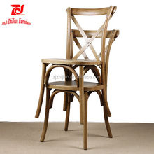 Rental Wedding Cross Back Chair Stacking Cross Chair ZJC31