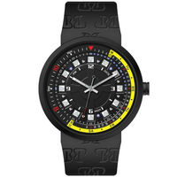 Fashion Diamonds Black Yellow Waterproof Good Looking Touch Watch