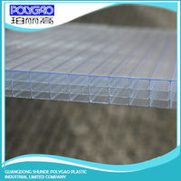 Alibaba China supplier pc four wall hollow sheet,roof translucent polycarbonate