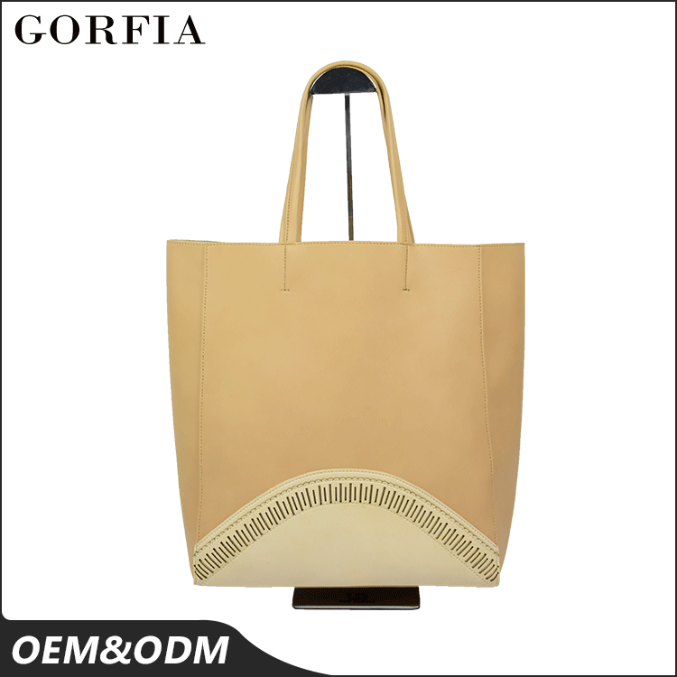 Guangzhou leather factory latest fashion wholesale big designers women custom leather tote bag