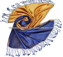 100% Silk Reversible Weave Scarf / Silk scarf for womens stylish scarf