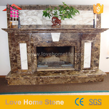 New design Dark Emperador Marble insert Fireplace surround