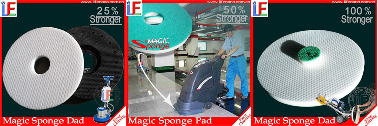 Wooden Tile Floor Cleaning Pad for Floor Cleaning Machine in new material Melamine Sponge