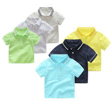 wholesale summer boy korean t - shirt multicolor leisure kids polo shirts