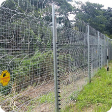 vinyl coated razor fence match 358 security fence prison mesh for sale
