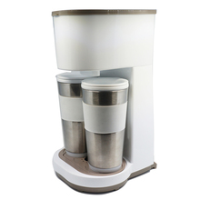 2-Cup Household Use Drip Coffee Maker Machine For Two Travel Mugs