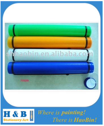 colorful artist plastic drawing tubes