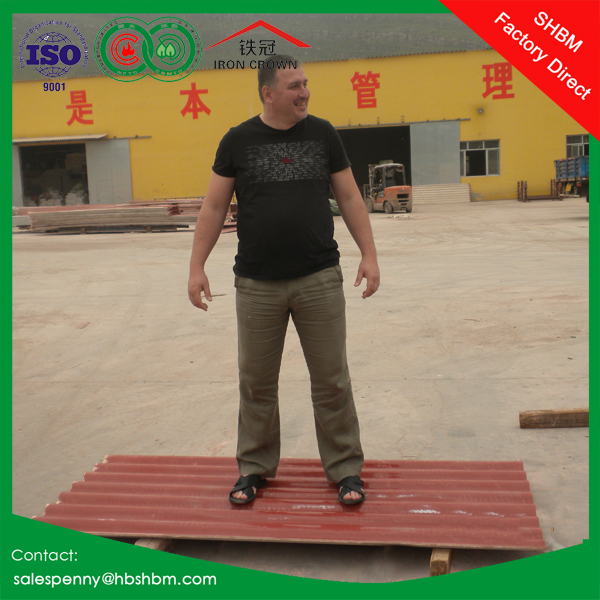 high strength reinforced fiberglass roof tile fireproof insulated mgo roof tile