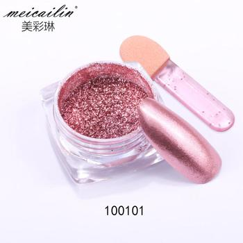 High Quality Sexy Rose Gold Nail Chrome Powder Nail Art Glitter Decoration