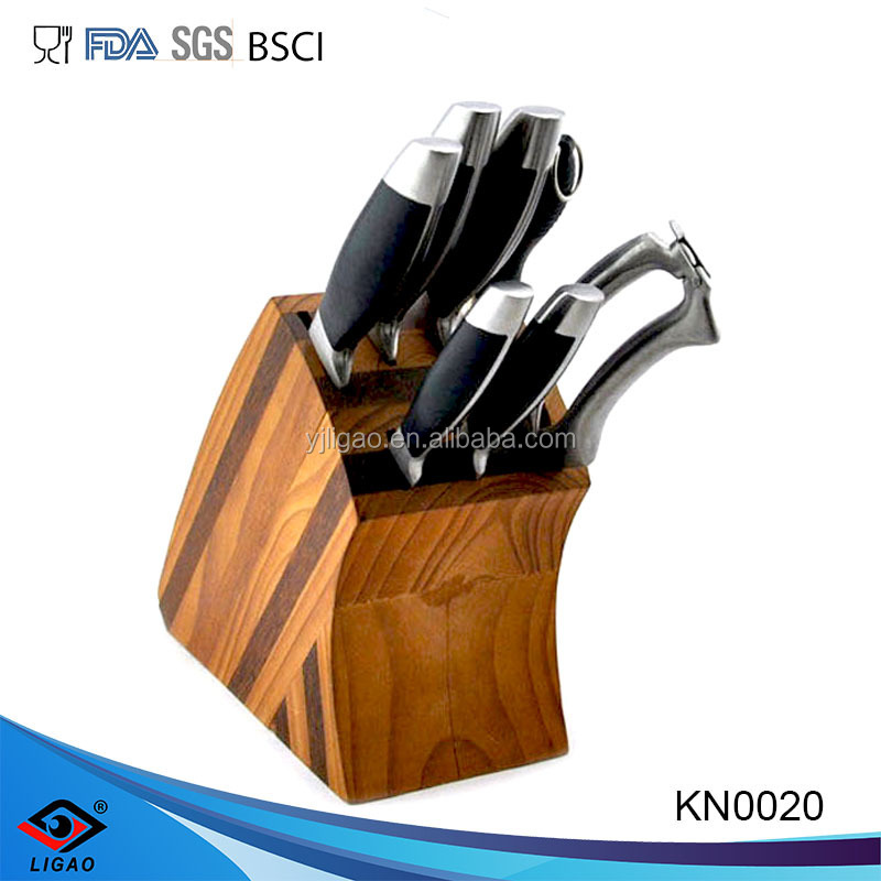 7pcs kitchen knife set wooden holder