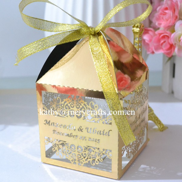 Wedding Candy Box Gold/Red/White/Blue Laser Cut Wedding Favor Boxes Casamento Wedding Favors Gifts