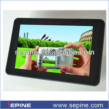 7 inch battery/12v optional lcd screen car hdd media player