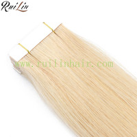 100% quality 20 inch human hair weave extension at Wholesale price Tape in grade 8A