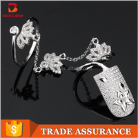 Wholesale ladies accessories fine gold plated rings jewellery latest models