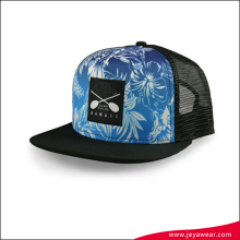 high digital printed flat bill classic snapback hat