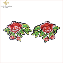Mirror Pair Flower Embroidery Iron on Applique Lace Patches Scrapbooking Craft Clothes Bags Decorated Sewing can be customized