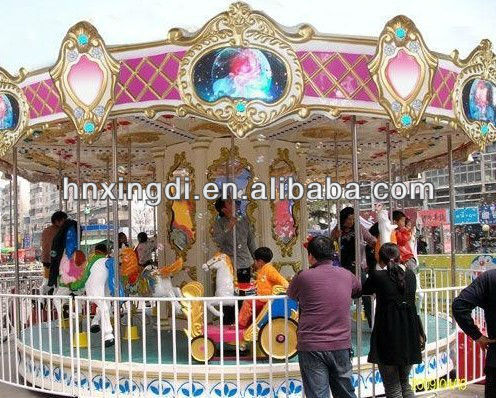 mini merry go round rides kiddie amusement park carousel horses equipment