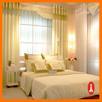 100% polyester/cotton drapes and cloth curtains/ print curtain