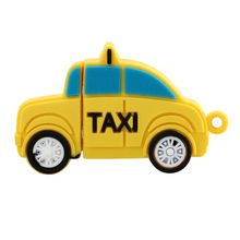 Car shaped silicone 8-16G USB stick cover TAXI USB flash drive holder