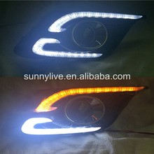 For Mazda 3 AXELA 2014-2016 2 LED DRL Daytime Running Light like matchet Style White & Yellow