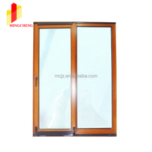 2017 Chinese New Design Sound Insulation Aluminum Cladding Wood Lift & Sliding Door with Invisible Flyscreen