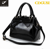 2015 sweet lady newest style pu leather bag with bow