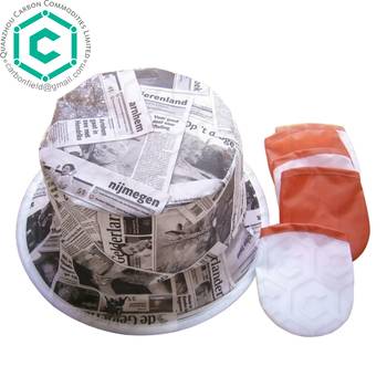 newspaper printed folding hat/cowboy hat with print logo