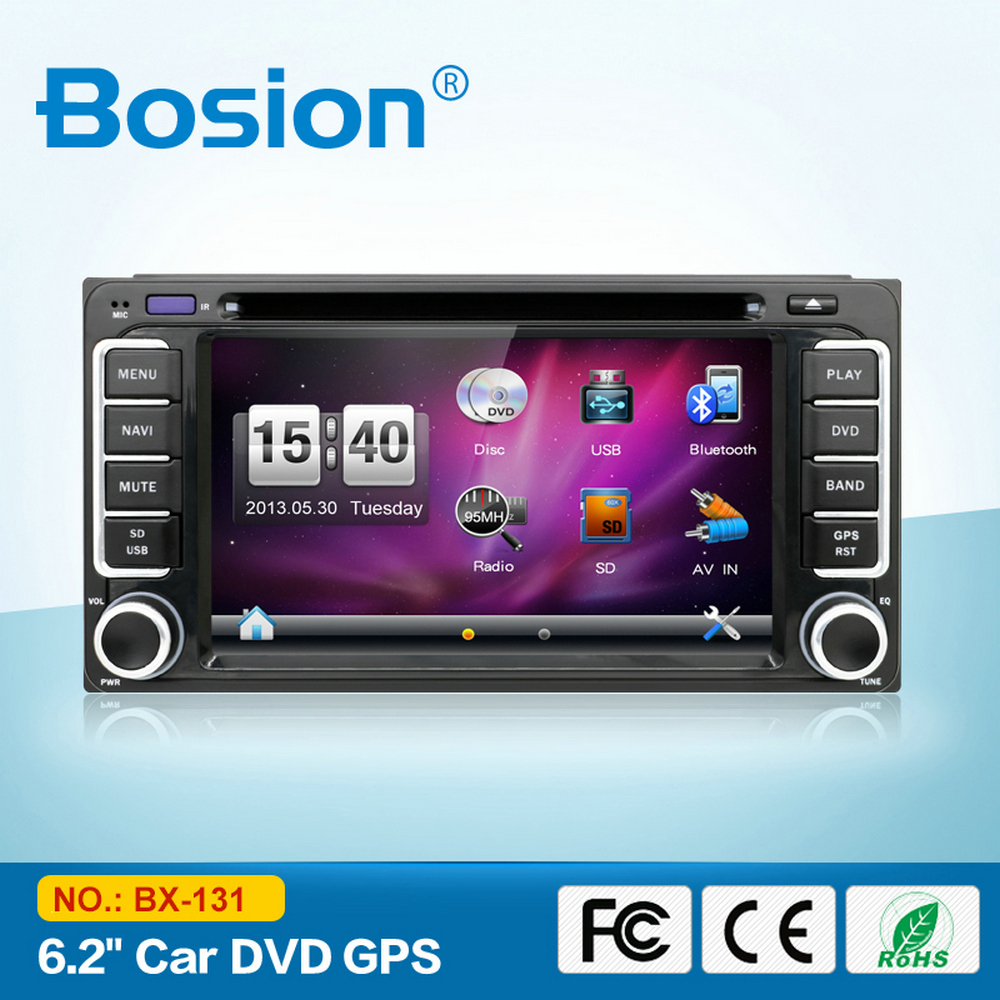 Universal 2 Din Touch Screen Radio Car DVD Player GPS for Toyota Yaris with SD Card Navigation