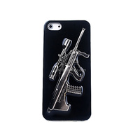 Cool design Snap On Case Clear plastic gun case for iphone 5 5s