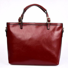 SIMPLICITY!Real leather easy matching ladies laptop bag for women, leather attache case